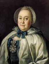 Алексей Петрович Антропов. Portrait of Countess M.A.Rumyantzeva