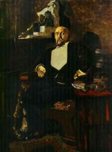 Михаил Александрович Врубель. Portrait of S. Mamontov, the Founder of the First Private Opera