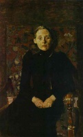 Михаил Александрович Врубель  Portrait of wife of the businessman Artsybushev