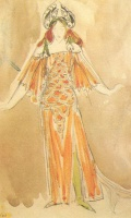 Михаил Александрович Врубель  Volkhova, the sea princess (Costume design for the opera