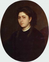 Иван Николаевич Крамской  Portrait of a Young Woman Dressed in Black Velvet
