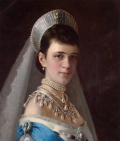 Иван Николаевич Крамской  Portrait of Empress Maria Fiodorovna in a Head Dress Decorated with Pearls